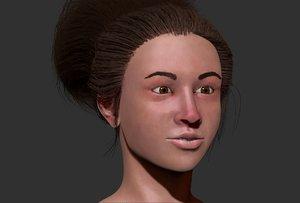 teen girl 3d model