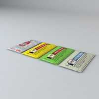 3d model set heinz condiments packets