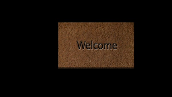 3d welcome mat
