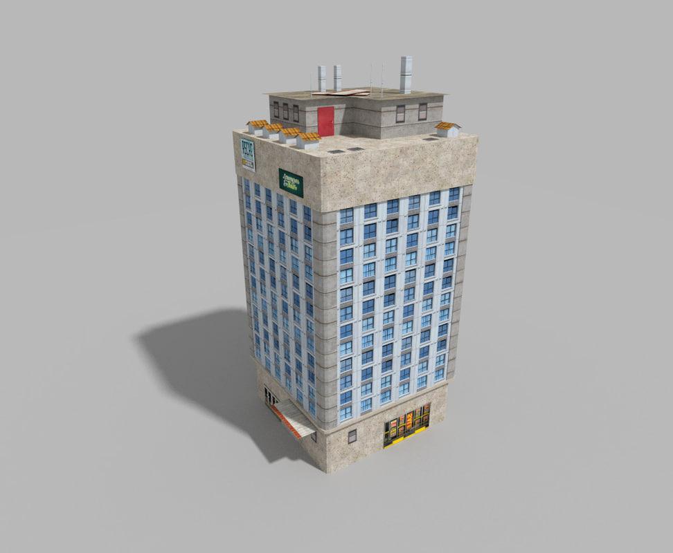 3d building games model