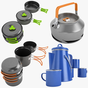 camping cookware 01 obj
