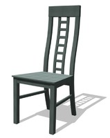 3d model of chair assembly construction
