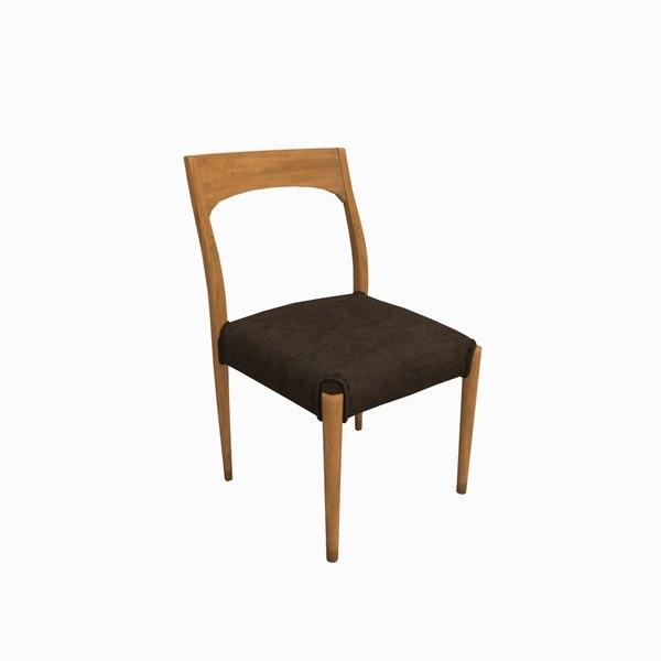 3d japanese chair model