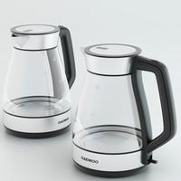 3d model kettle daewoo aqua
