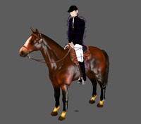 3d horse walking animation