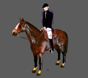 3d horse walking animation