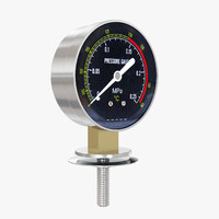Pressure meter black background gauge