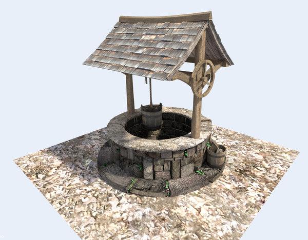 medieval water 3d model