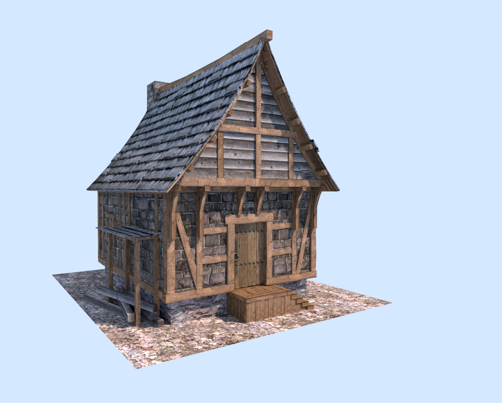 3ds medieval house