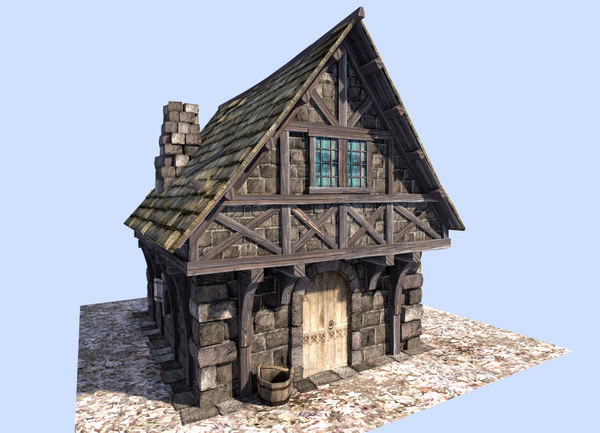 3d 3ds medieval house