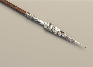 medieval spear 3d 3ds