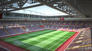 spartak arena moscow 3d max