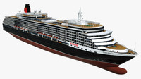 cruise queen victoria ship 3d 3ds