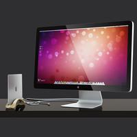 3d set macbook thunderbolt display model