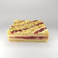 cake napoleon pie 3d model