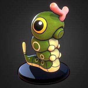 3d caterpie pokemon model