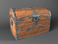 chest old 3d obj