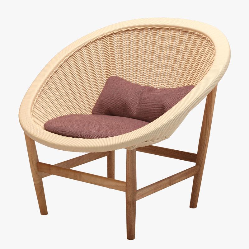 3d model kettal basket wicker