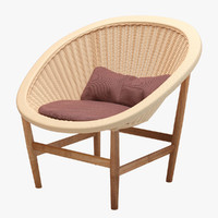 3d model kettal basket wicker