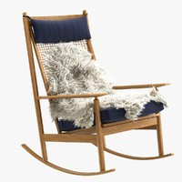 chair teak rocking danish 3d obj