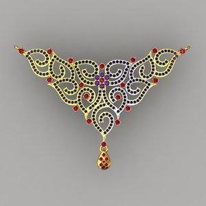 pendant necklacependant 3d model