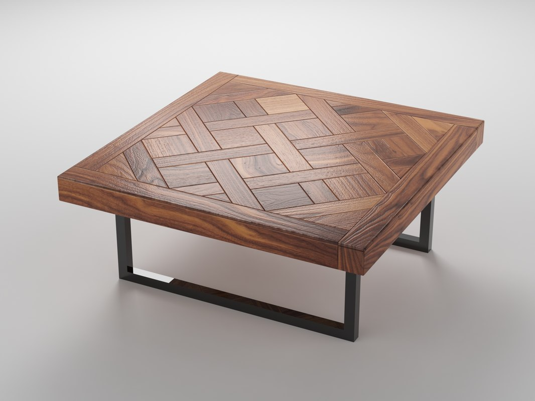 3d good wood table coffee