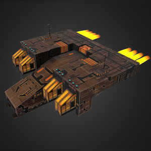 crystal battleship 3d model
