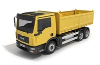 truck yellow red 3d model