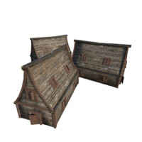 wood wooden house 3d 3ds