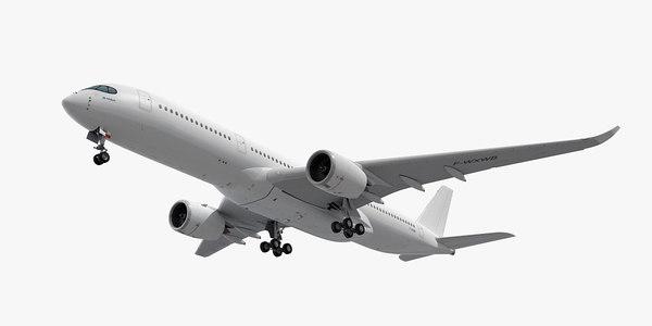 3d model airbus a350-900 plane generic