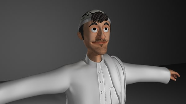 rigged character 3d ma