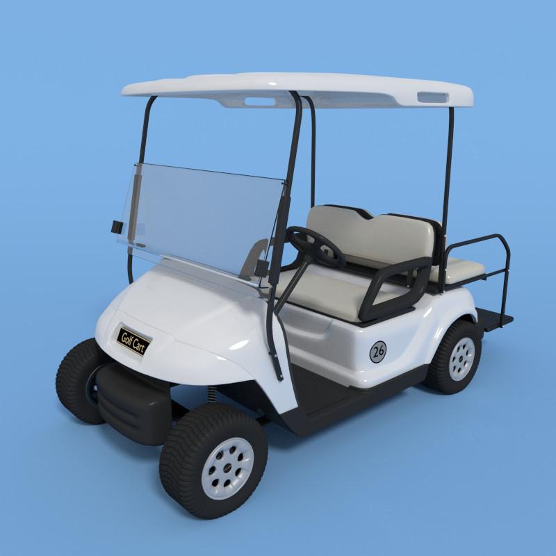 golf cart obj