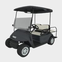 large golf cart 3d blend
