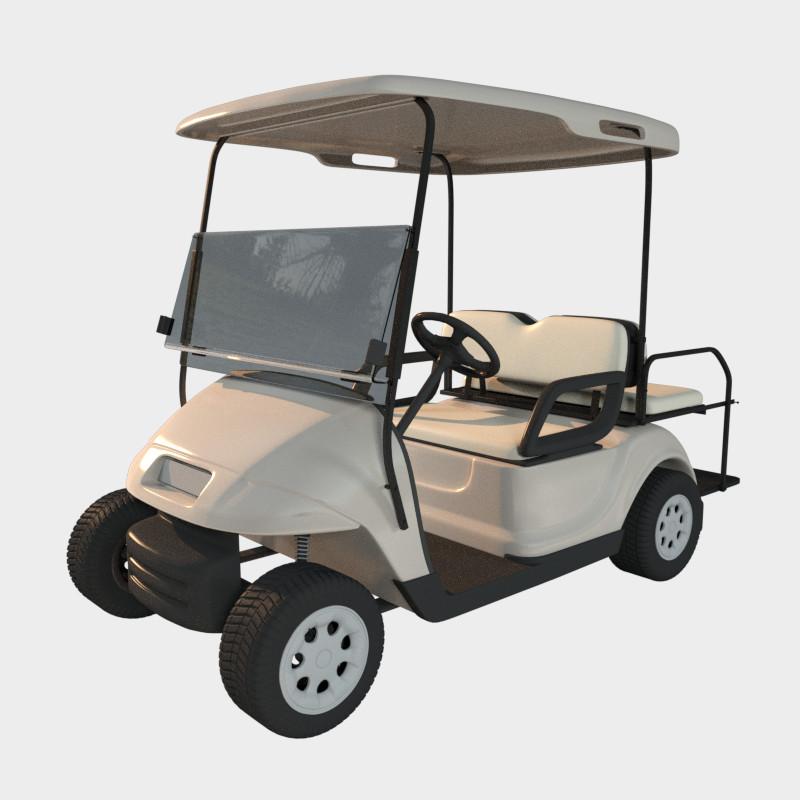 3d model golf cart