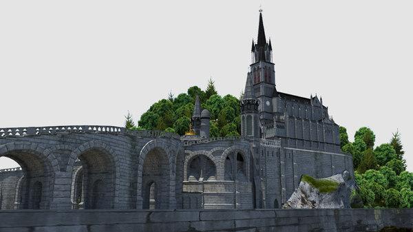 lourdes church 3d x