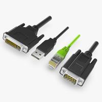 rj45 plugs 3d fbx