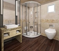 3d model materials toilets bathroom shower