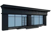 classic facade building 3d model