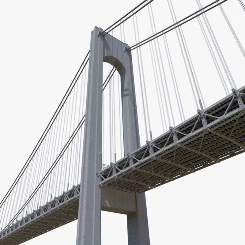 verrazano narrows bridge 3d model