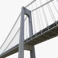 verrazano narrows bridge 3d model