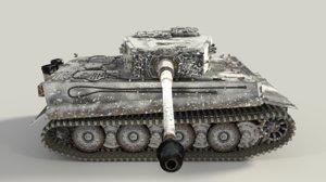 3d model panzerkampfwagen vi ausf tiger