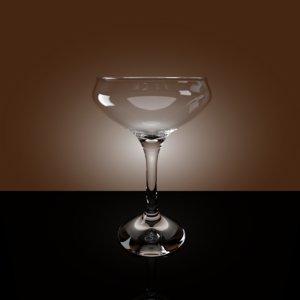 martini glass 3d obj