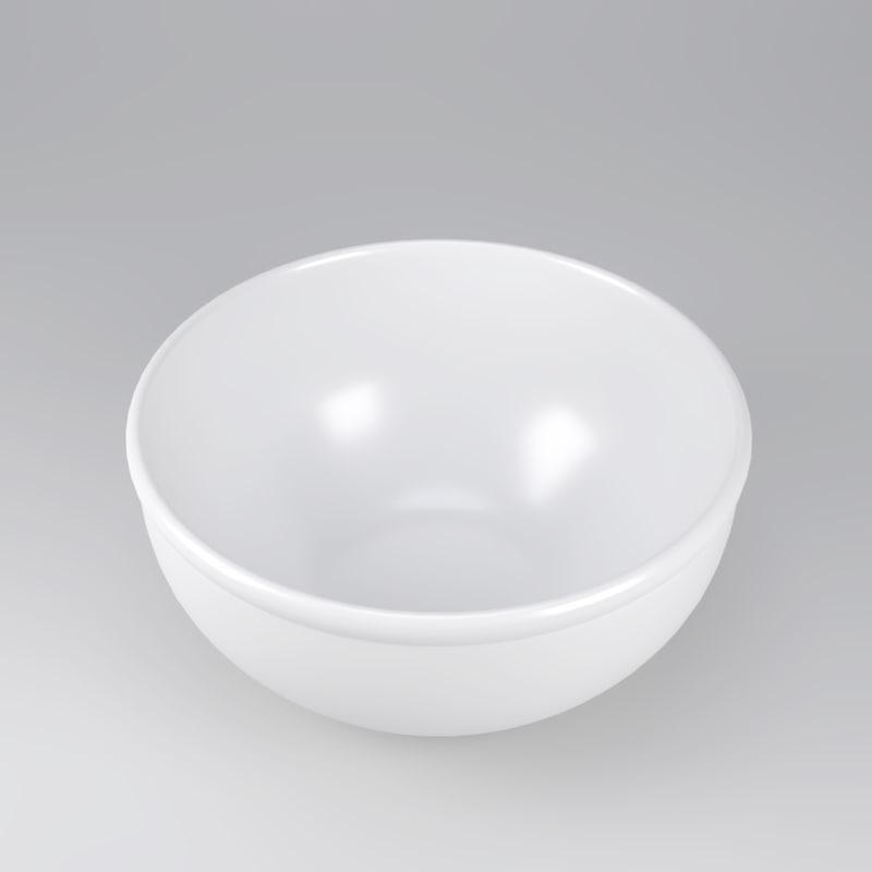 noodle bowl soup plate 3d model