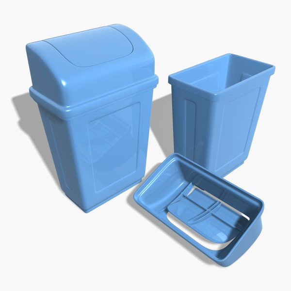 max swing plastic trash cans