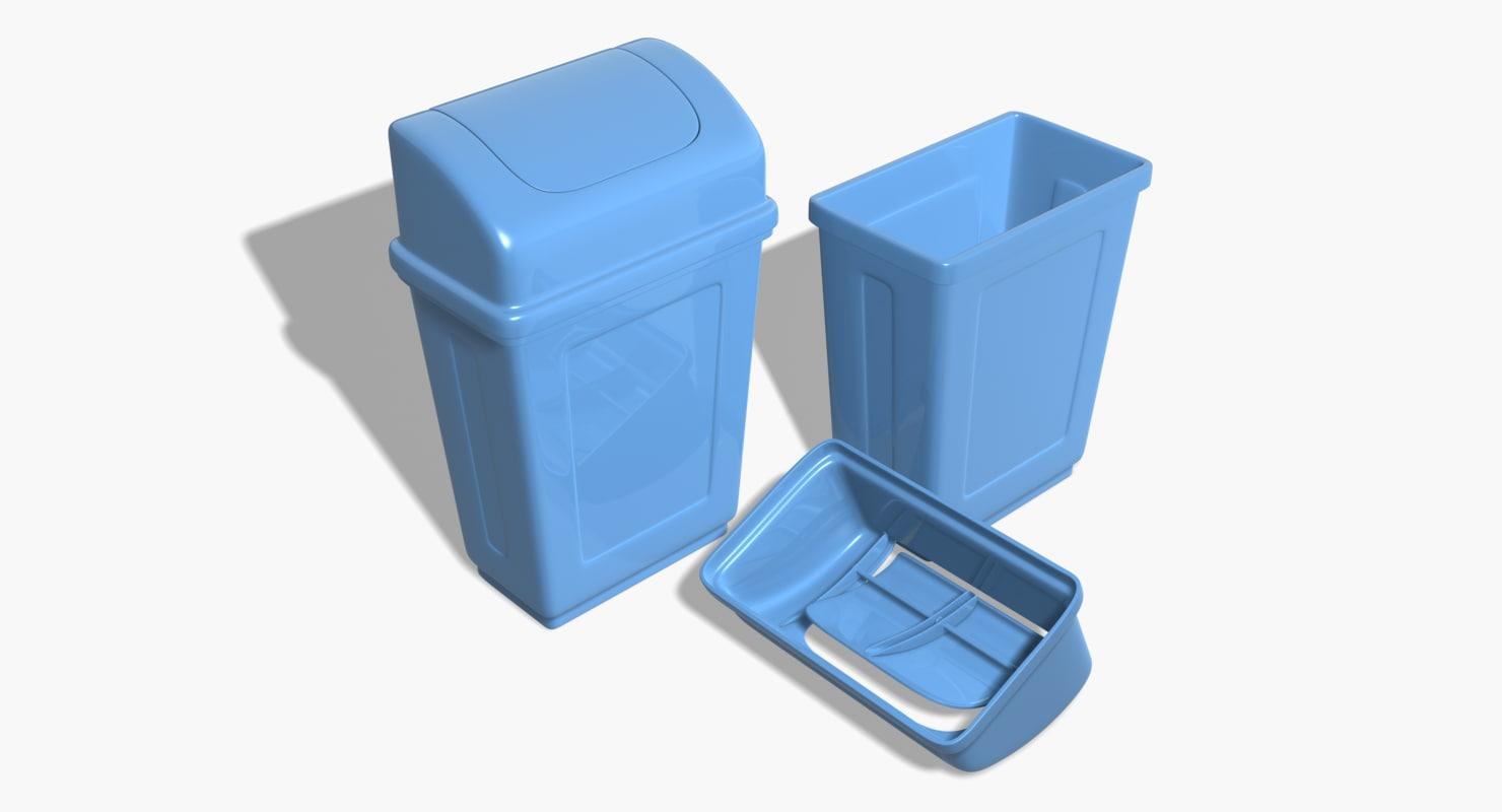 max swing plastic trash cans