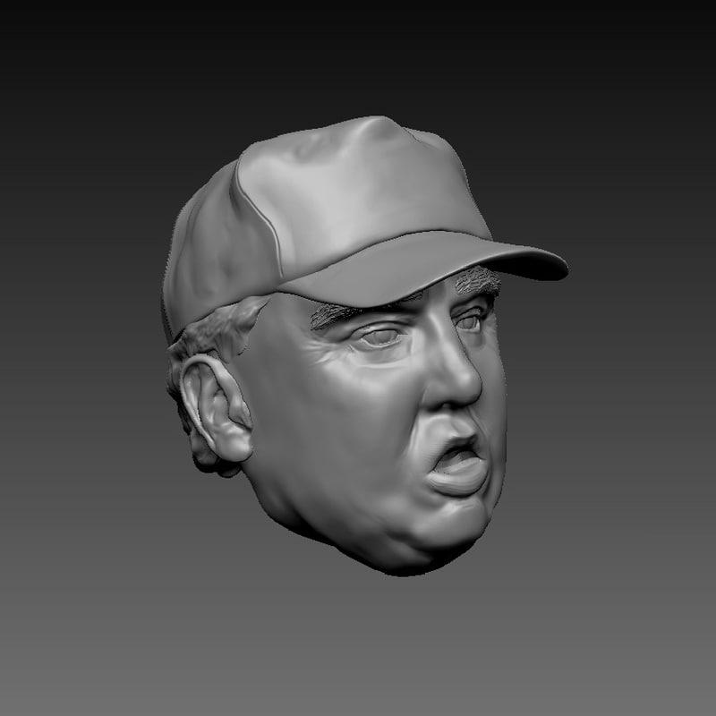 trump hat 3d model