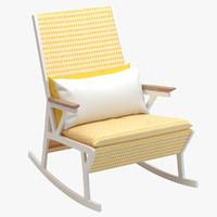 3d kettal vieques rocking armchair