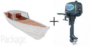 engine outboard motor boat obj