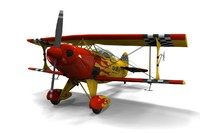 3d model of pitts special s-1s sport