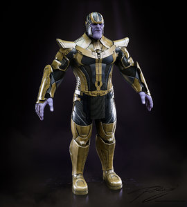 thanos guardians galaxy 3d max